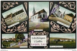 57. LORQUIN . CP Multivues ( En Allemand ) . - Lorquin