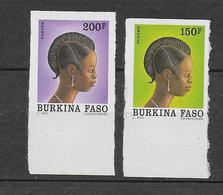 1991 - BURKINA FASO - YT N°836/837 NON DENTELES (RARE) - COIFFES - Burkina Faso (1984-...)
