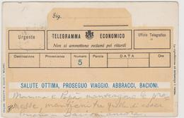 """Cartolina Di Fantasia,  """"Telegramma Economico""""  - F.p.- Fine '1800 - Fantasia"""