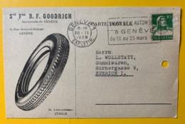 8070 - Société Fse B.F. Goodrich Succursale De Genève (pneus) Flamme Salon De L'auto 20.11.1928 - Cartes Postales