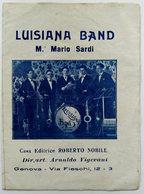 Depliant Pubblicitario Musicale - Luisiana Band - M. Mario Sardi - Musique & Instruments