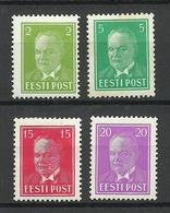 Estonia Estonie 1936/37 President Päts Michel 114 - 115 & 118 & 125 * - Estonie
