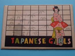 JAPANESE GIRLS ( Dresses > KABUKI / NOH Play / NOREN / KOTO / KIMONO......  ) Anno (?) FUKUDA Cards ( Zie/voir Photo ) ! - Japon