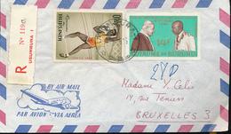 BURUNDI REGISTERED COVER FROM USUMBURA 1965 TO BRUSSELS - Burundi