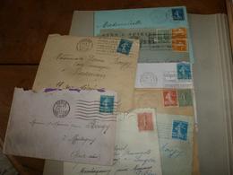 Lot De  8 Enveloppes Anciennes Affranchies - Stamps