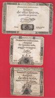 Lot De 3 Assignats  -  état  B - ...-1889 Anciens Francs Circulés Au XIXème