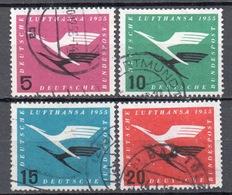 Allemagne  1955  Oblitéré Michel : 205 - 208 Cote: 20€ - [7] República Federal