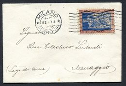 Z1415 ITALIA REGNO 1929  Biglietto Da Visita Affrancato Con Emanuele Filiberto 20 C. (Sassone 226), Da Milano 22.12.29 P - 1900-44 Vittorio Emanuele III