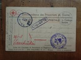 REGNO - Prigionieri Di Guerra - Cartolina In Franchigia 1918 Spedita A Prigioniero Di Guerra In Germania + Spese Postali - 1900-44 Vittorio Emanuele III