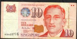 SINGAPORE  P40 10 DOLLARS  1999 #0CB     VF  NO P.h. ! - Singapour