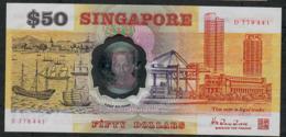 SINGAPORE  P31 50 DOLLARS  1990 #D     XF-AU - Singapour