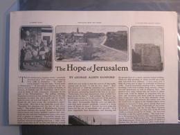 ISRAEL PALESTINE GRAND NEW HOTEL JERUSALEM NEWSPAPER THE CHRISTIAN HERALD GEORGE ALDEN SANFORD ADVERTISING ORIGINAL - Advertising