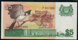 SINGAPORE  P10 5 DOLLARS  1976 #A/7 Signature 3   UNC. - Singapour