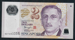 SINGAPORE  P46i 2 DOLLARS  2017 #6DT  2 Solid Stars  VF NO P.h. - Singapore