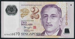 SINGAPORE  P14i 2 DOLLARS  2017 #6FR  2 Solid Stars  AU-UNC. - Singapour
