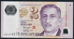 SINGAPORE  P46k 2 DOLLARS  2017 #6QY  2 Hollow Stars  AU-UNC. - Singapour