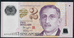 SINGAPORE  P46h 2 DOLLARS  2017 #6PP  1 Hollow Star  XF NO P.h. - Singapour