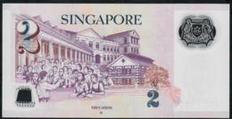 SINGAPORE  P46h 2 DOLLARS  2017 #6PN  1 Hollow Star  XF NO P.h. - Singapore