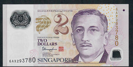 SINGAPORE  P46h 2 DOLLARS  2017 #6AX  1 Solid Star  VF NO P.h. - Singapore