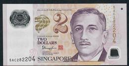 SINGAPORE  P46h 2 DOLLARS  2017 #5AC  1 Solid Star  UNC. - Singapour
