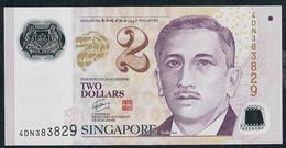 SINGAPORE  P46e 2 DOLLARS  2011 #4DN  2 Triangles  XF-AU - Singapour