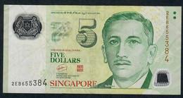 SINGAPORE  P47a 5 DOLLARS  2007 #2EB  N0 Symbol VF NO P.h; - Singapore