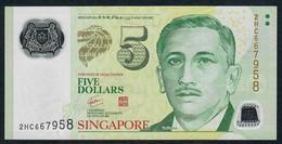SINGAPORE  P47a 5 DOLLARS  2007 #2HC  N0 Symbol VF NO P.h; - Singapour