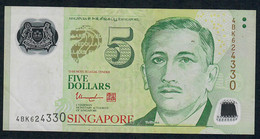 SINGAPORE  P47d 5 DOLLARS  2013 #4BK  2 Triangles  VF NO P.h; - Singapore