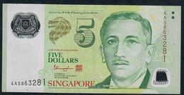 SINGAPORE  P47d 5 DOLLARS  2013 #4AS  2 Triangles  VF NO P.h; - Singapore
