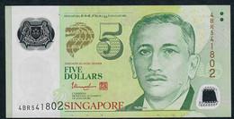 SINGAPORE  P47d 5 DOLLARS  2013 #4BR  2 Triangles  VF NO P.h; - Singapour