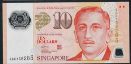 SINGAPORE  P48f 10 DOLLARS  2012 #4BC  1 Diamond  VF NO P.h. - Singapour