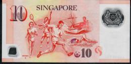 SINGAPORE  P48f 10 DOLLARS  2012 #4HG  1 Diamond  VF NO P.h. - Singapour