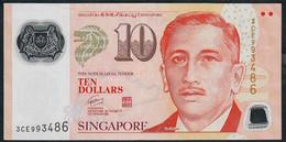 SINGAPORE  P48d 10 DOLLARS  2010 #3CE  1 Triangle VF NO P.h. - Singapore