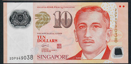 SINGAPORE  P48c 10 DOLLARS  2009 #2DP  2 Squares VF NO P.h. - Singapore