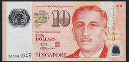 SINGAPORE  P48e 10 DOLLARS  2011 #3DQ 2 Triangles VF NO P.h. - Singapour