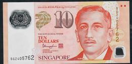SINGAPORE  P48j 10 DOLLARS  2017 #5GZ 2 Solid Houses AU-UNC. - Singapour