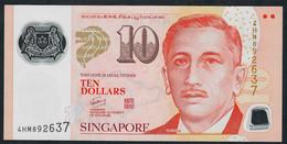 SINGAPORE  P48g  10 DOLLARS  2013 #4HM 2 Diamonds AU-UNC. - Singapour