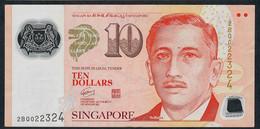 SINGAPORE  P48b  10 DOLLARS  2008 #2BQ 1 Square  VF NO P.h; - Singapour