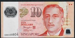 SINGAPORE  P48m  10 DOLLARS  2018 ?  #6BB  1 Inverted Triangle  VF NO P.h; - Singapore