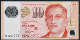 SINGAPORE  P48m  10 DOLLARS  2018 ?  #6DX  1 Inverted Triangle  VF NO P.h; - Singapore