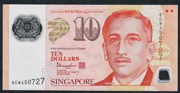 SINGAPORE  P48m  10 DOLLARS  2018 ?  #6CW  1 Inverted Triangle  AU- - Singapore