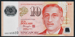 SINGAPORE  P48m  10 DOLLARS  2018 ?  #6BD  1 Inverted Triangle  AU- - Singapour