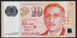 SINGAPORE  P48m  10 DOLLARS  2018 ?  #6CA 1 Inverted Triangle  AU - Singapour