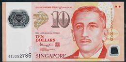 SINGAPORE  P48m  10 DOLLARS  2018 ?  #6EJ 1 Inverted Triangle  AU - Singapore