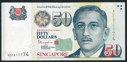 SINGAPORE  P49h  50 DOLLARS  2015   #5DF   1 Star   XF  NO P.h. - Singapour