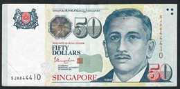 SINGAPORE  P49i  50 DOLLARS  2017   #5JA   2 Stars   XF  NO P.h. - Singapore