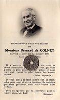 Monsieur Bernard De Colnet Décédé En 1961 - Obituary Notices