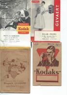 Lot De 8 Pochettes Des Années 50 à Photos(Kodak-Gevaert-) - Photographie