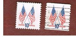 STATI UNITI (U.S.A.) - SG 1515 - 1973 FLAGS OF 1777 AND 1973   (2 DIFFERENT PERFORATIONS)  - USED - Stati Uniti