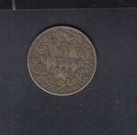 Württemberg 6 Kreuzer 1845 - Kleine Munten & Andere Onderverdelingen